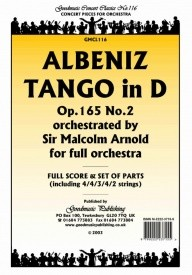 Albeniz: Tango (arr.Arnold) Orchestral Set published by Goodmusic