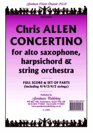 Allen: Concertino for Alto Sax Orchestral Set published by Goodmusic