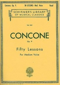 Concone: Fifty Lessons For Medium Voice Opus 9 published by Schirmer