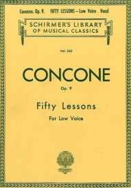 Concone: Fifty Lessons For Low Voice Opus 9 published by Schirmer
