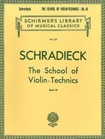 Schradieck: School Of Violin Technics Book 3 (Bowing) published by Schirmer