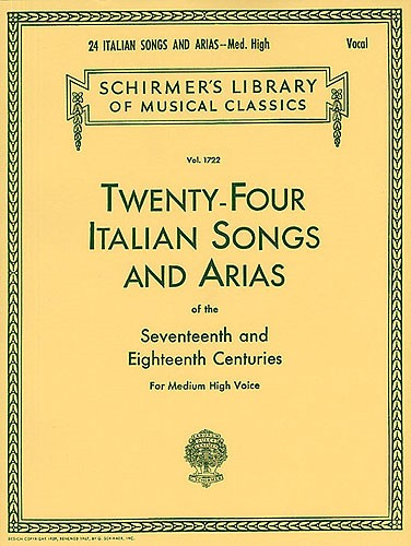 24 Italian Songs and Arias Medium High published by G Schirmer