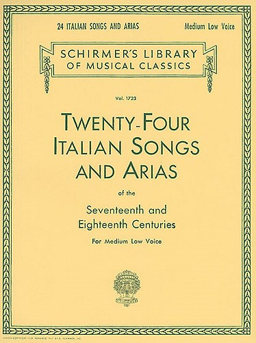 24 Italian Songs and Arias Medium Low published by G Schirmer