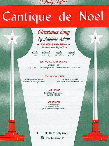 Adam: Cantique De Noel (O Holy Night) For Low Voice In Bb published by Schirmer