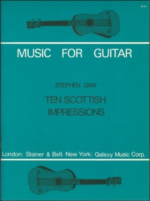 Daw: Ten Scottish Impressions for Guitar published by Stainer & Bell