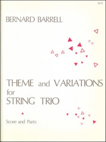 Barrell: Theme and Variations for Violin, Viola and Cello published by Stainer & Bell