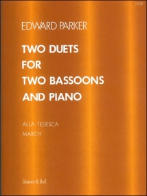 Parker: Two Duets for Two Bassoons and Piano published by Stainer & Bell