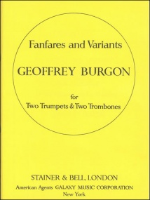 Burgon: Fanfares and Variants for Brass Ensemble published by Stainer and Bell