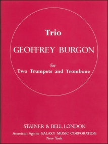 Burgon: Trio for Brass Ensemble published by Stainer and Bell