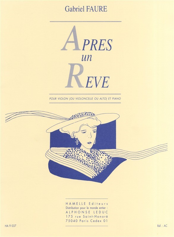 Faure: Apres un Reve for Violin, Viola or Cello published by Hamelle