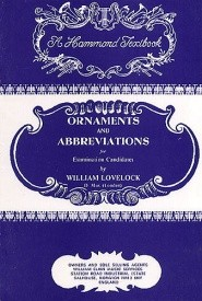 Lovelock: Ornaments And Abbreviations published by Hammond