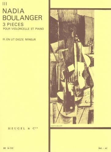 Boulanger: 3 Pièces No. 3 in C# minor for Cello published by Heugel
