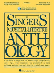Singers Musical Theatre Anthology 2  Baritone/Bass Book & Online Audio published by Hal Leonard