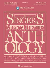 Singers Musical Theatre Anthology 3 Baritone/Bass Book & Online Audio published by Hal Leonard