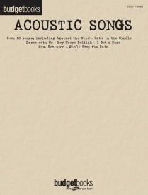Budgetbooks: Acoustic Songs for Easy Piano published by Hal Leonard