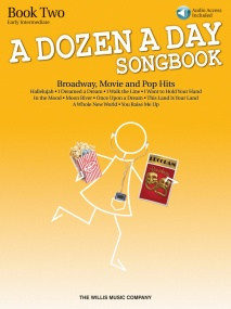 A Dozen A Day Songbook: Book 2 - Early Intermediate for Piano published by Willis (Book & Online Audio)