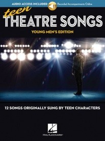 Teen Theatre Songs: Young Men's Edition (Book/Online Audio) published by Hal Leonard