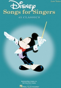 Disney Songs for Singers: Low Voice published by Hal Leonard