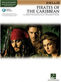 Pirates of the Caribbean - Cello published by Hal Leonard (Book/Online Audio)