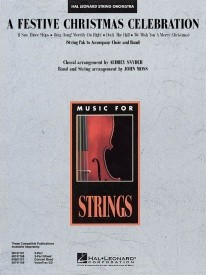 A Festive Christmas Celebration for String Pak published by Hal Leonard - Set (Score & Parts)