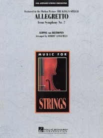 Allegretto from Symphony No. 7  for String Orchestra published by Hal Leonard - Set (Score & Parts)