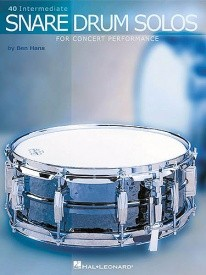 40 Intermediate Snare Drum Solos For Concert Performance by Hans published by Hal Leonard