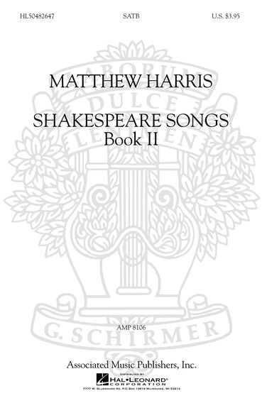 Harris: Shakespeare Songs Volume 2 SATB published by Hal Leonard
