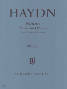Haydn: Sonata in G Hob XV:32 for Violin published by Henle