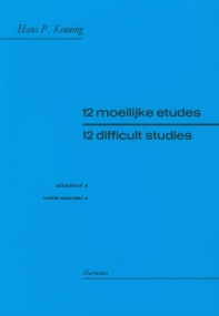 12 Difficult Studies for Treble Recorder by Keuning published by Harmonia