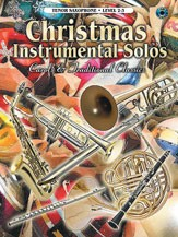 Christmas Instrumental Solos - Tenor Saxophone Level 2-3 published by Warner