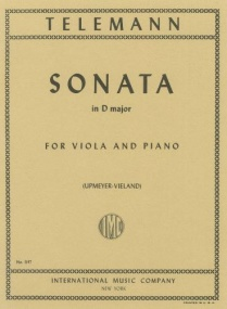 Telemann: Sonata in D major for Viola published by IMC
