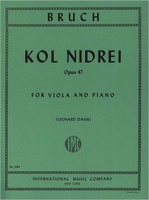 Bruch: Kol Nidrei  Opus 47 for Viola published by IMC