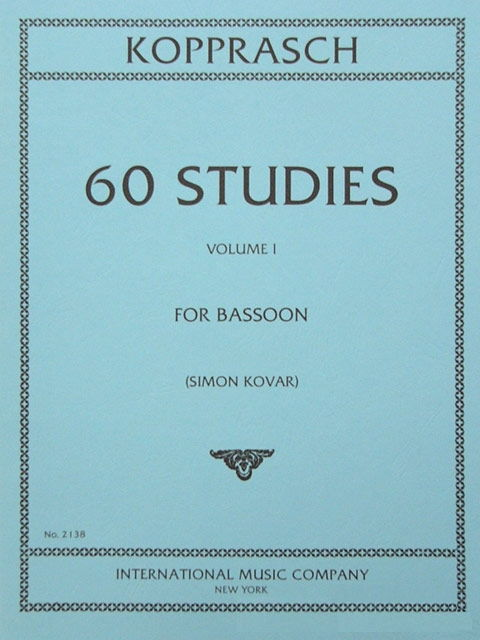 60 Studies Volume 1 for Bassoon by Kopprasch published by IMC
