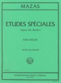 Mazas: Etudes Speciales Opus 36/1 for Violin published by IMC