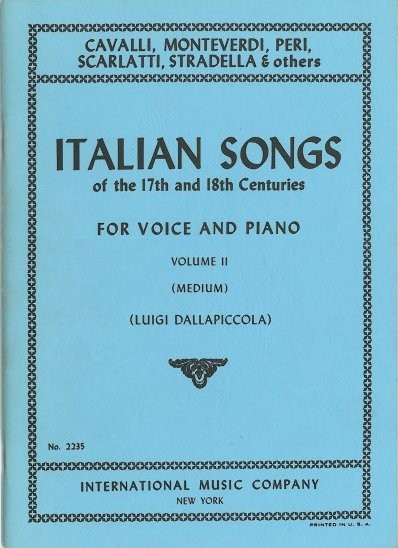 Italian Songs of the 17th & 18th Centuries Volume 2 Medium published by IMC
