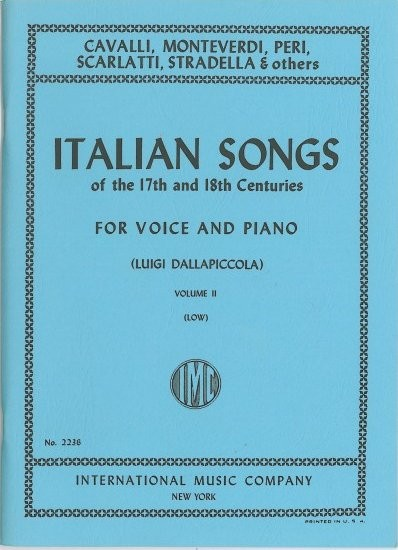 Italian Songs of the 17th & 18th Centuries Volume 2 Low published by IMC