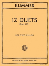 12 Duets for 2 Cellos Opus 105 by Kummer published by IMC