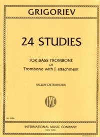 Grigoriev: 24 Studies for Bass Trombone published by IMC
