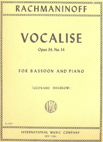 Rachmaninov: Vocalise Opus 34/14 for Bassoon published by IMC