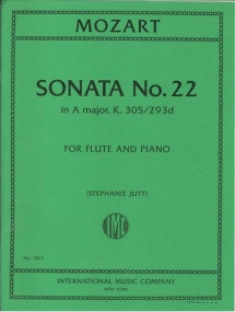 Mozart: Sonata No.22 in A K305 for Flute published by IMC