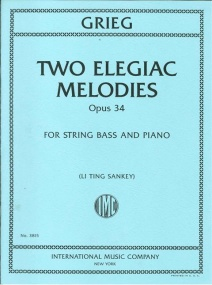 Grieg: Two Elegiac Melodies for Double Bass published by IMC