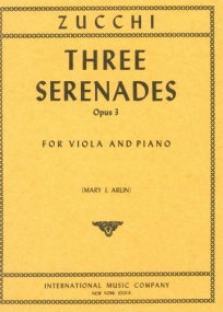 Zucchi: 3 Serenades Opus 3 for Viola published by IMC