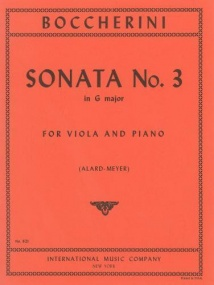 Boccherini: Sonata No 3 in G for Viola published by IMC