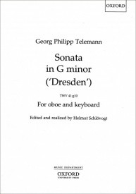 Telemann: Sonata in G minor ['Dresden'] TWV 41 for Oboe published by OUP