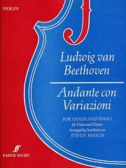 Beethoven: Andante Con Variazioni for Violin published by Faber