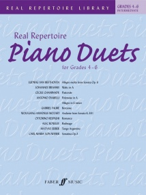 Real Repertoire Piano Duets Grade 4 to 6 published by Faber