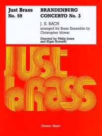 Brandenburg Concerto No.3 - Just Brass Number 59 by Bach for Brass Ensemble published by Chester