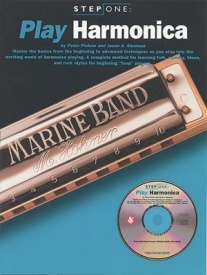 Step One Play Harmonica Book & CD published by Amsco