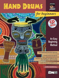 Hand Drums For Beginners Book & CD published by Alfred