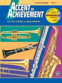 Accent on Achievement 1 Book & CD for Alto Saxophone published by Alfred